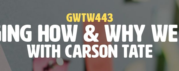 """Changing How & Why We Work"" with Carson Tate (GWTW443)"